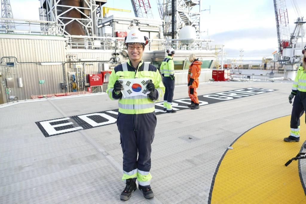스타방게르 정원민 회원님 소식: Offshore Oil Platform 포상견학 관련 신문기사