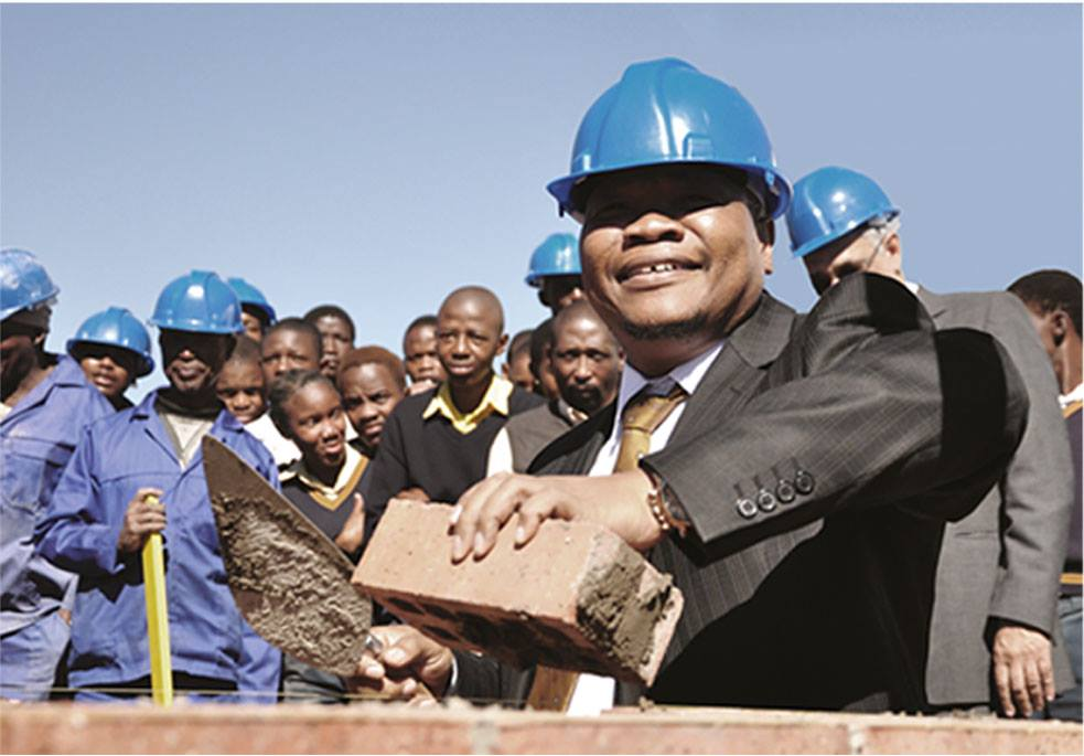 MEC Tate Makgoe at Kagiso Shanduka Trust infrastructure launch