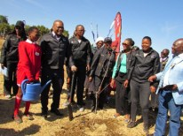 KST's Motheo District office planting trees with FSDoE at Lerole Primary School in Botshabelo