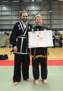 Martial Arts Instructor and Student
