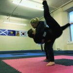 Person being thrown in Martial Arts practice