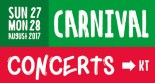 Sunday 27th and Monday 28th Carnival Concerts at KT