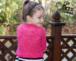 Hope Cardi Free Crochet pattern KT and the squid