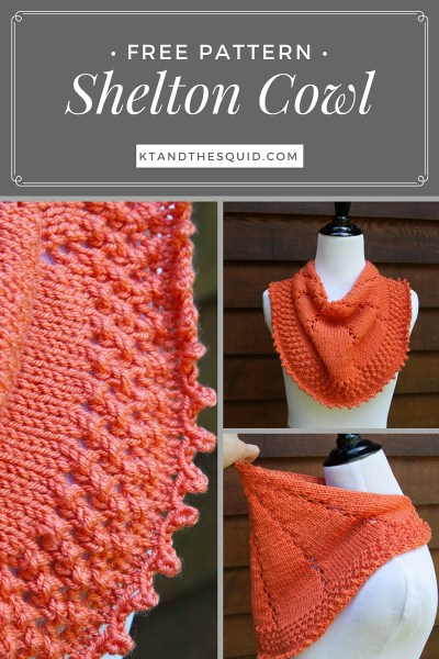 Shelton Knit Cowl Free Knit Pattern | KT and the Squid