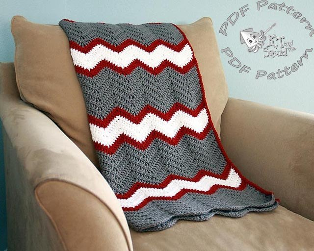 Vintage Chevron Blanket - Crochet Pattern - KT and the Squid