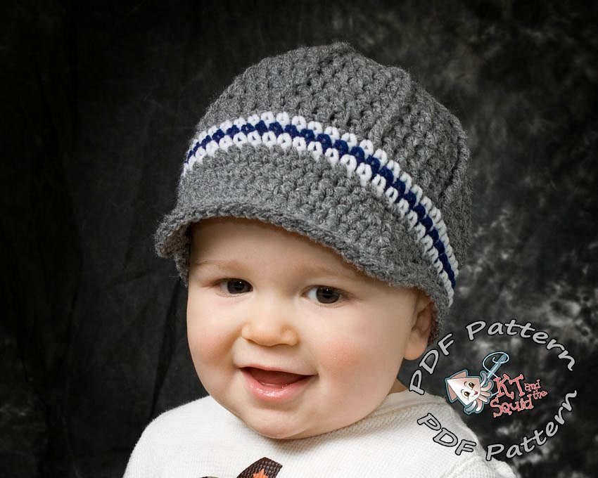 4e3fc91d5 Perfect Stripe Newsboy Hat - Crochet Pattern - KT and the Squid