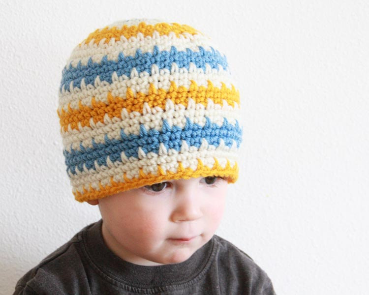 Spiky Stripes Beanie Crochet Pattern Kt And The Squid