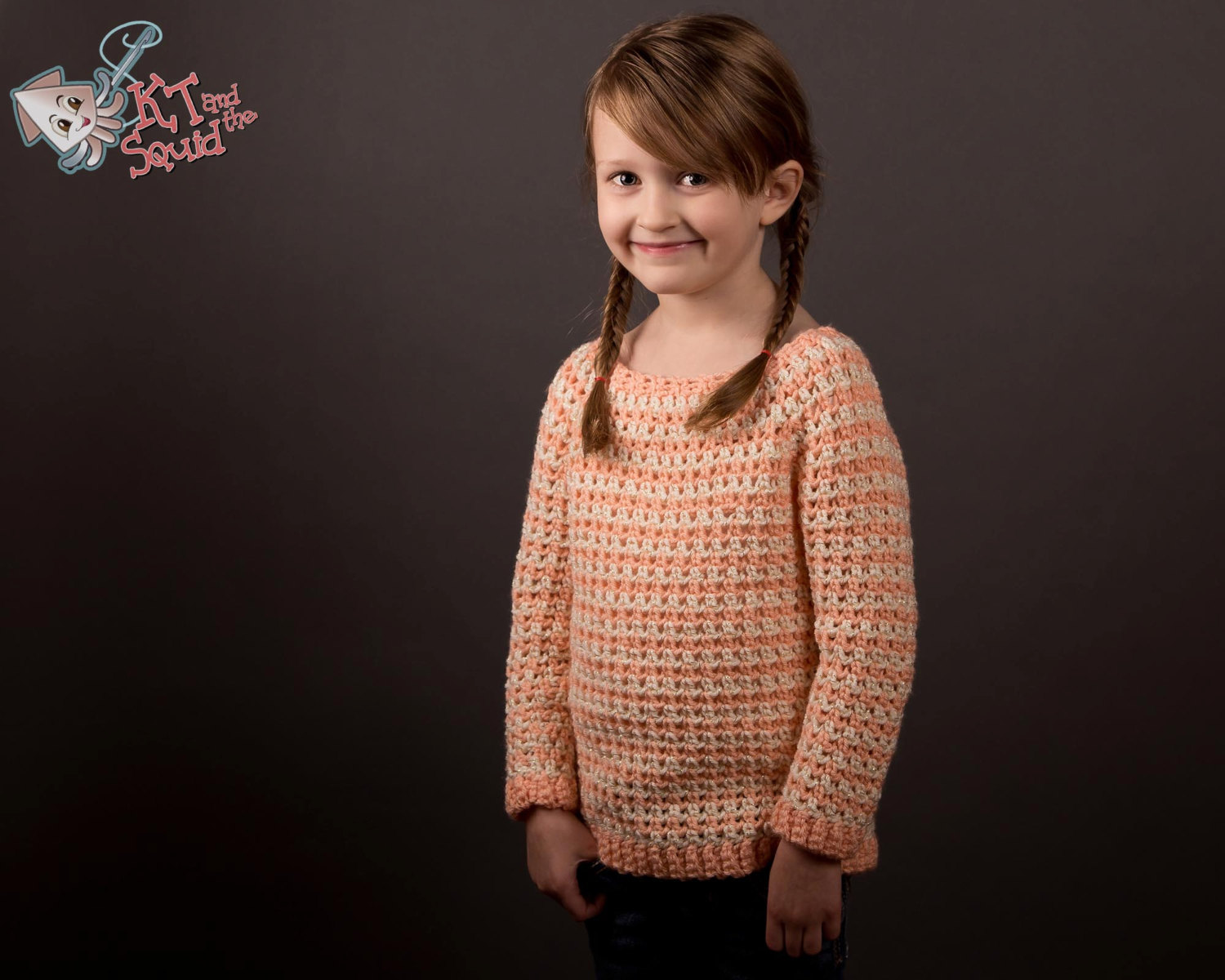 Cheer Sweater Kids Crochet Pattern Kt And The Squid
