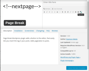 pagebreak in wordpress