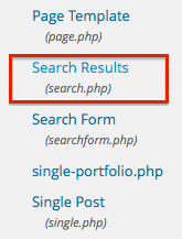 search results dashboard