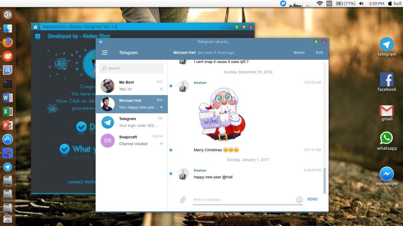 telegram ubuntu desktop app