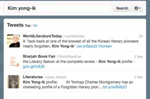 Kim Yong-ik on Twitter