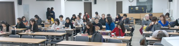 NOTE: Student already asleep on the right does NOT reflect the reaction of most people^^