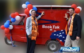 """US Embassy launches """"BookTuk"""" mobile library"""