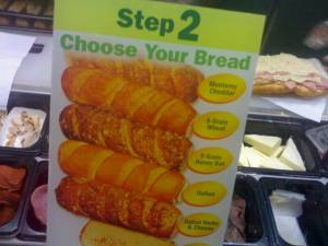 Choose your bread.