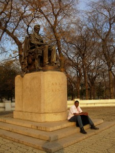 By the Lincoln Statue at Grant Park, Chicago