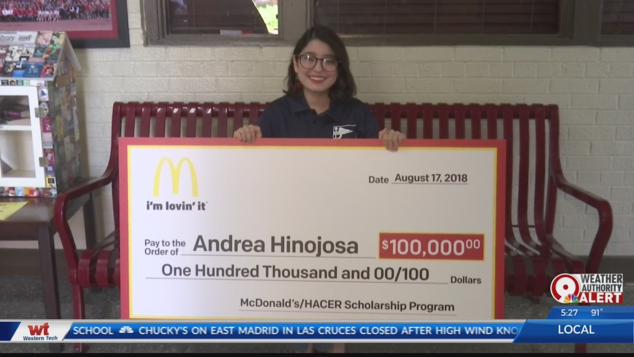 Bel Air graduate receives $100,000 scholarship from McDonald's HACER Program