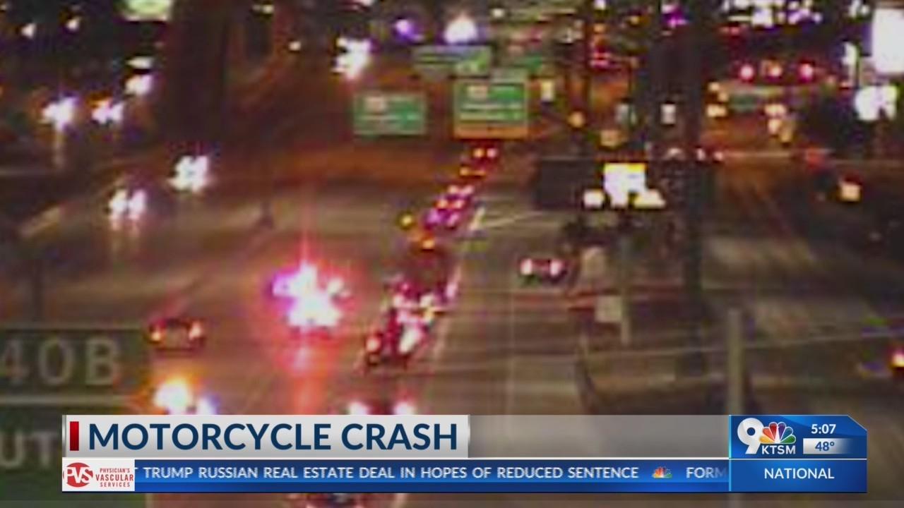 Motorcycle crash in East El Paso sends one to hospital