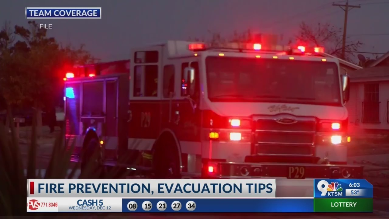 El Paso Fire Department offers evacuation tips following Sunland Park fire