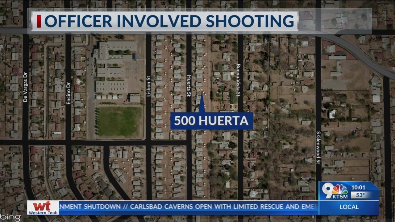 Officer involved shooting on Huerta