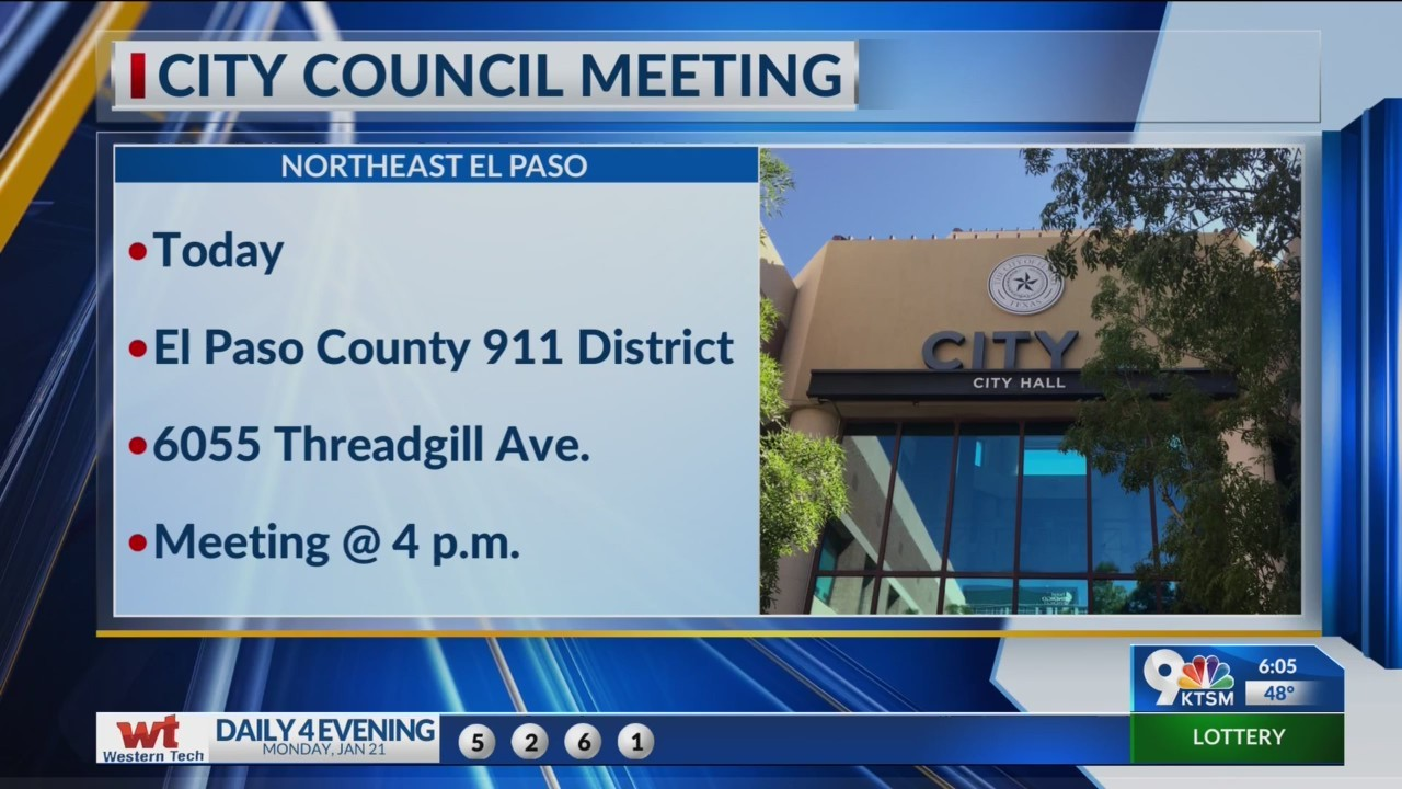 El Paso City Council Meeting in a different location