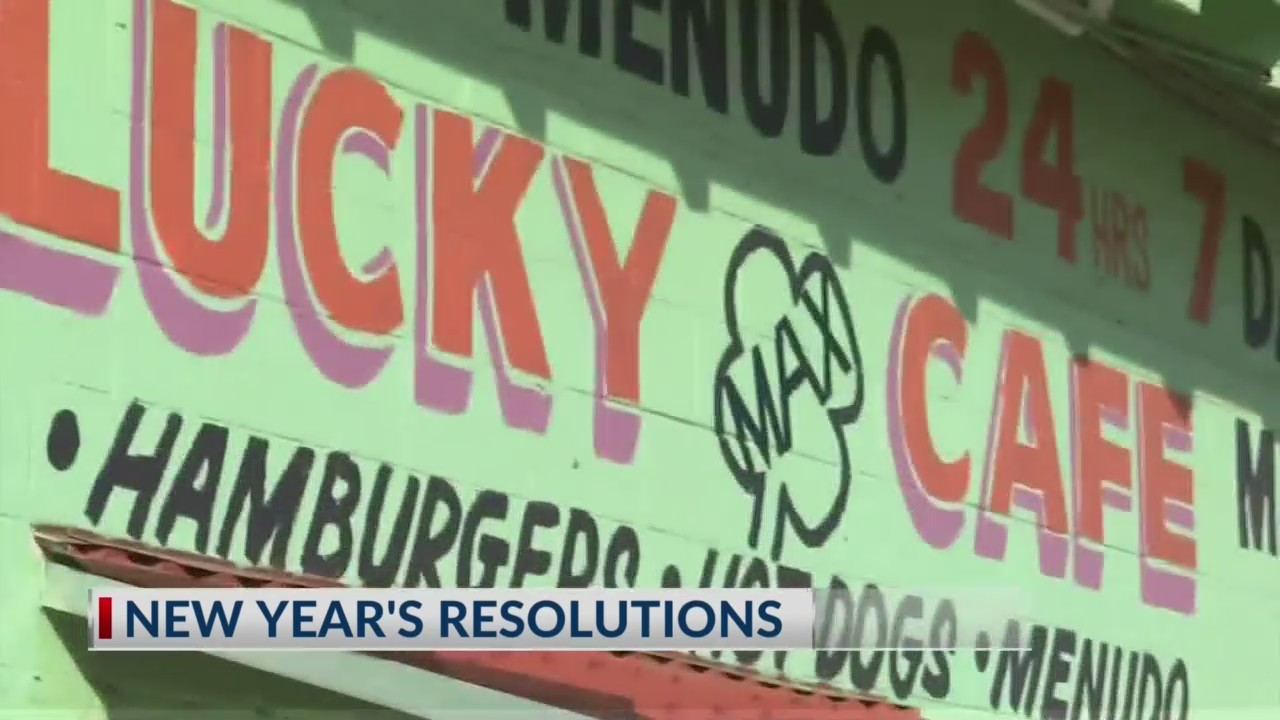 New Year's Resolutions from El Pasoans eating at Lucky Cafe.