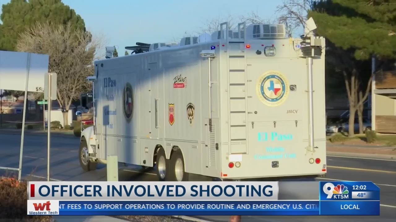 Officer involved shooting in East El Paso.
