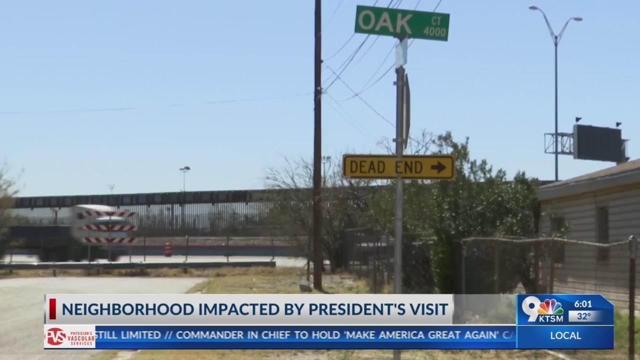 Neighborhood impacted by President's visit