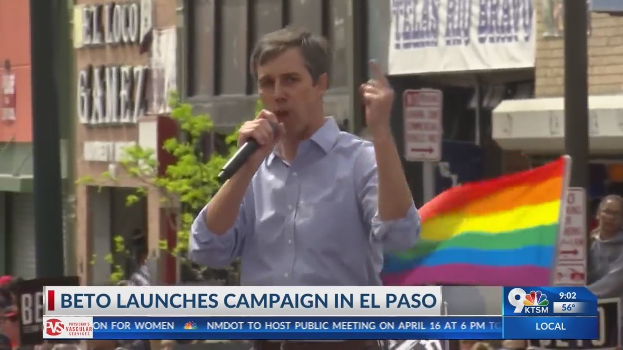 Beto O'Rourke kicks of 2020 Presidential campaign in Downtown El Paso