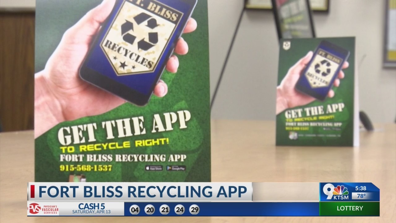 Fort Bliss encourages soldiers to use recycling app