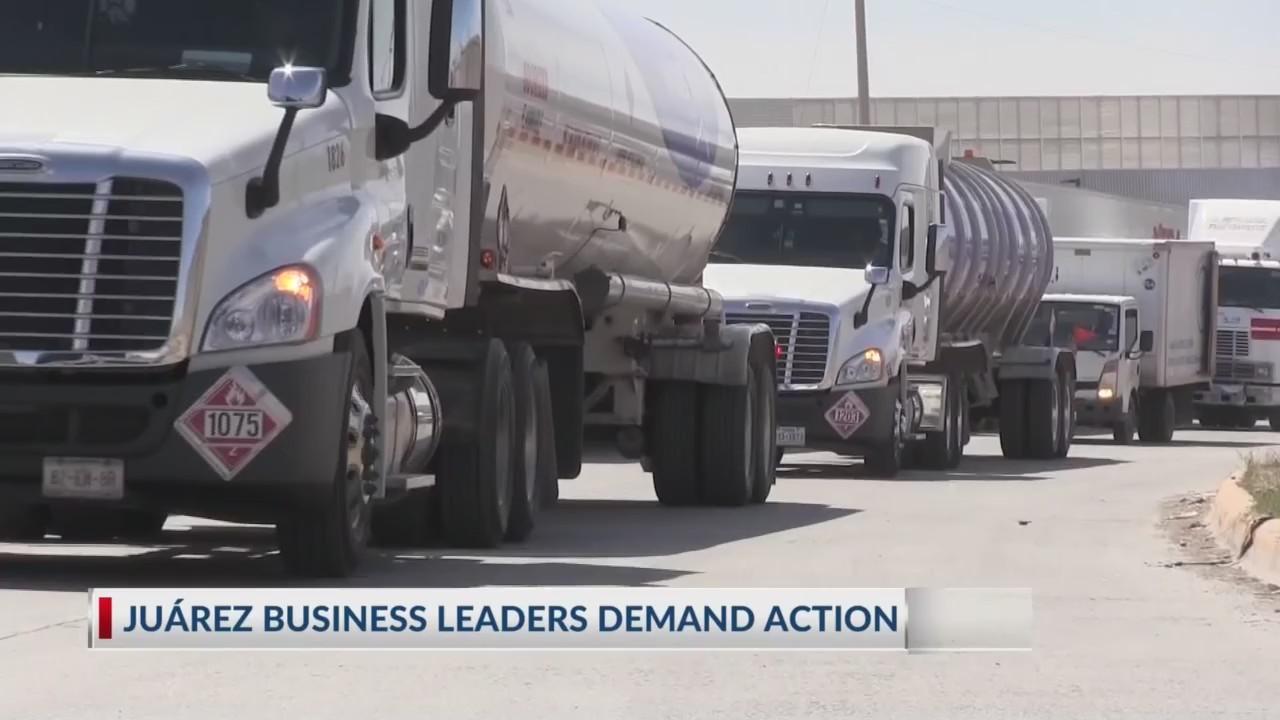Juarez business leaders demand action on long bridge wait times
