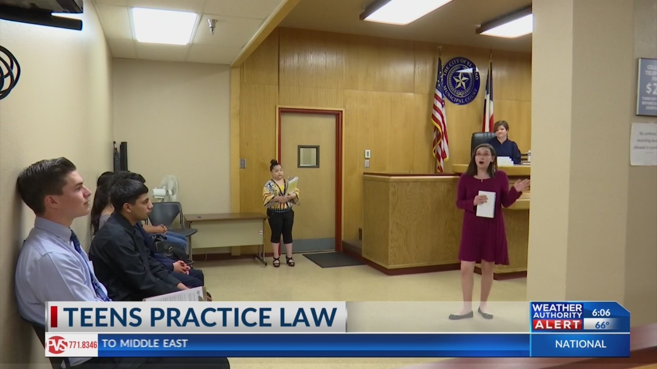 Borderland teens practice law in program offered by El Paso municipal court