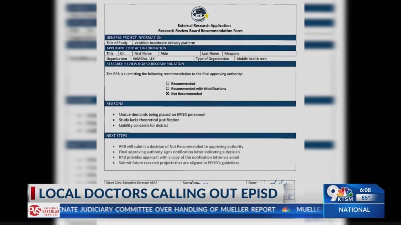 Local doctors calling out episd