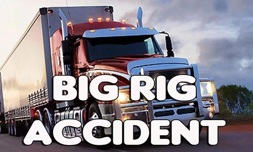Big rig accident blocks Highway 136 in Harrison County on Monday