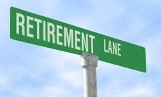 Retirement Lane Sign