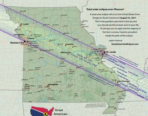 Missouri Total Solar Eclipse Path