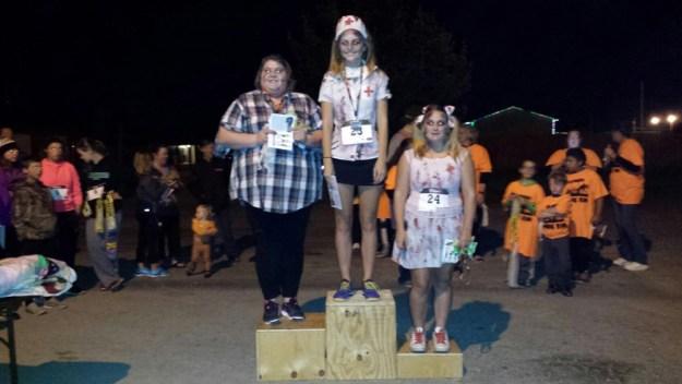 Infectors (Zombies) 1st - Tessa Schlatter (Trenton, MO) 2nd - Tai Smith (Trenton, MO) 3rd - Chloe Schlatter (Trenton, MO)