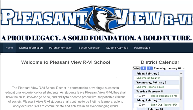 Pleasant View R-6 School ranks #7 in the state of Missouri
