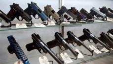 Handguns in Gun Store