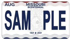 Missouri Bicentenniel License Plate