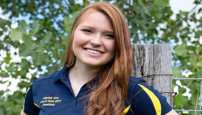 Trenton FFA member Mariah Fox wins Missouri FFA Agricultural Education Proficiency Award