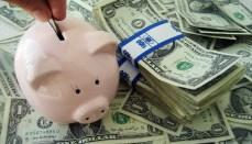 Piggy Bank with Money