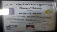 Trenton Police Department Flag Plaque