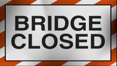 Bridge Closed Sign