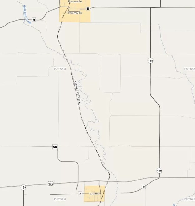 Map of Lucerne, Mo in Putnam County