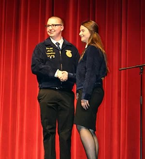 FFA members attend area 2 awards night