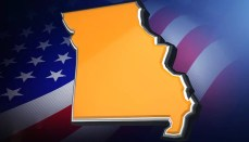 State of Missouri with Flag Background