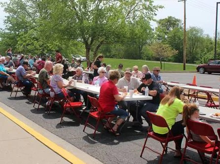 Community members enjoying the annual picnic.
