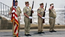 Flag Raising Ceremony by Trenton VFW