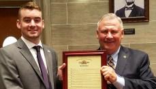 Rep. Nate Walker and TSU Intern Liam Hazen 20180518_182813